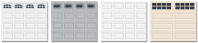 steel raised panel garage doors