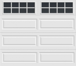 long panel door with long with square grilles windows