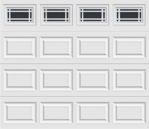 Short Panel Garage Door With Prairie 510 Windows