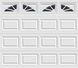 short panel garage door with sunset 501 windows