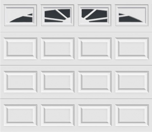 short panel garage door with sunset 503 windows