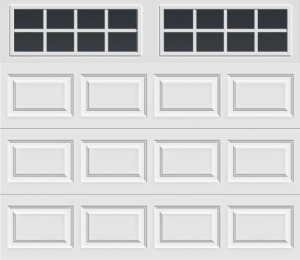 short panel door with long with square grilles windows
