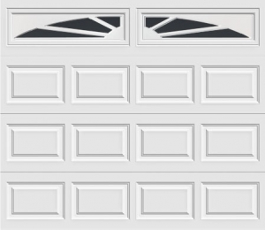 short panel garage door with sunset 603 windows