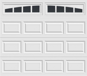 short panel garage door with madison arch 613 windows