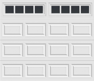 short panel garage door with madison 611 windows