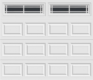 short panel garage door with prairie 610 windows
