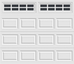 short panel garage door with stockton 612 windows