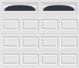 short panel garage door with cathedral 607 windows
