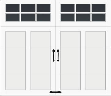 overlay type garage doors