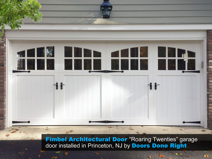 Fimbel Architectural Door Composite Carriage House Garage Door Installation  In Princeton, NJ 08540