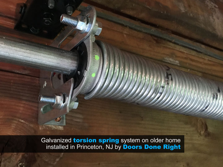 Clopay Galvanized Torsion Springs. Garage Door Replacement Detail