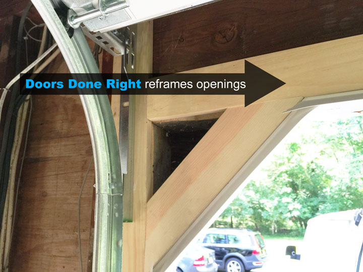 replace woodwork around garage door