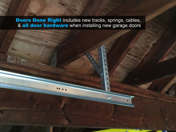 garage door replacement detail