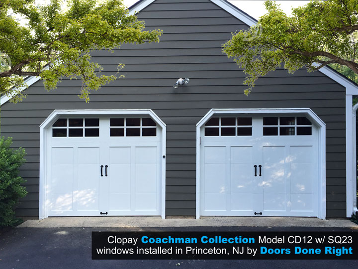 overlay carriage house garage doors in princeton nj