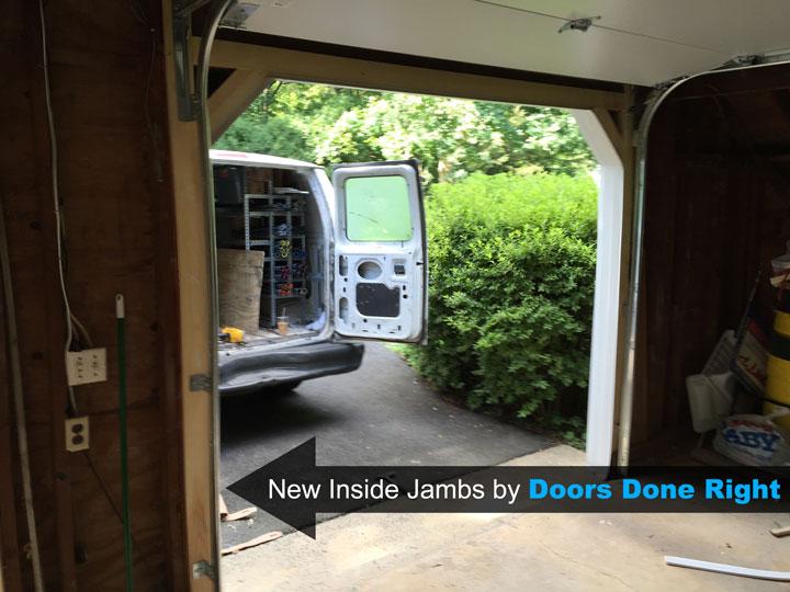 replacing garage door wood