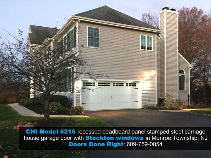 chi model 5216 stamped steel carriage house garage door in monroe township nj 08831
