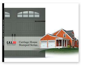chi stamped steel carriage house garage door brochure