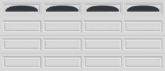 16 long panel clopay premium series garage door cathedral 607 windows