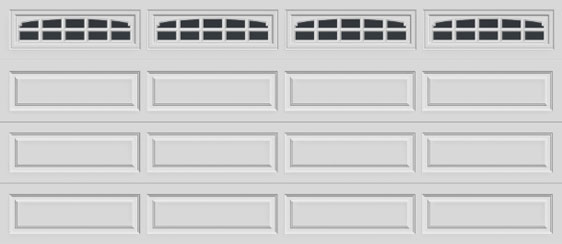 16 long panel clopay premium series garage door charleston 608 windows