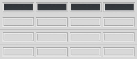 16 long panel clopay premium series garage door long plain windows