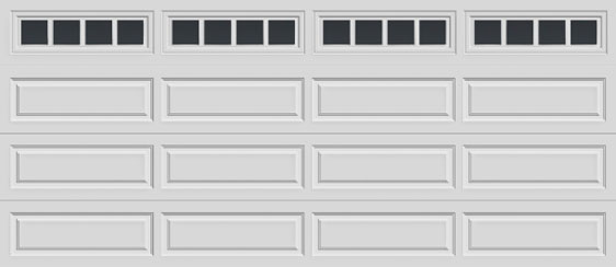 16 long panel clopay premium series garage door madison 611 windows