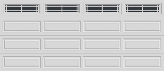 16 long panel clopay premium series garage door prairie 610 windows