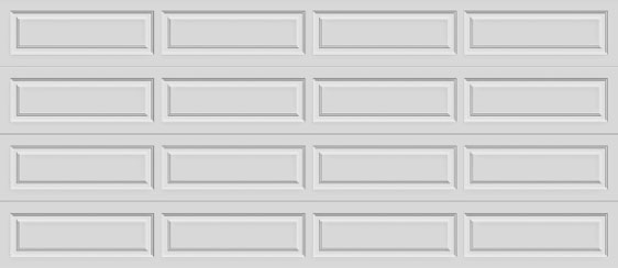 16 long panel clopay premium series garage door solid top section