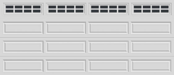 16 long panel clopay premium series garage door stockton 612 windows