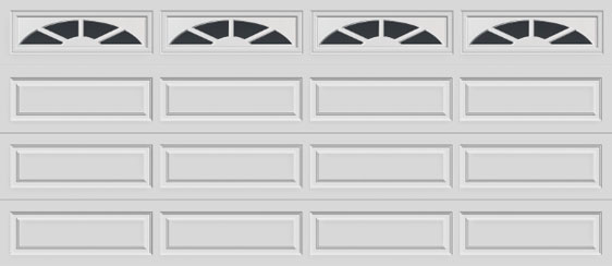16 long panel clopay premium series garage door sunset 601 windows