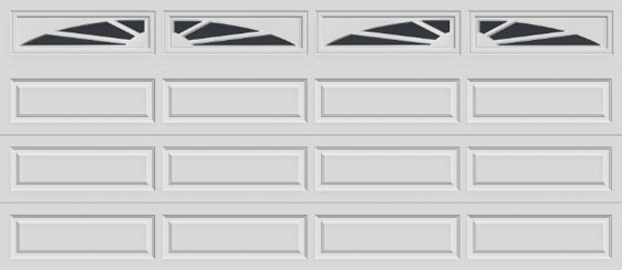 16 long panel clopay premium series garage door sunset 603 windows