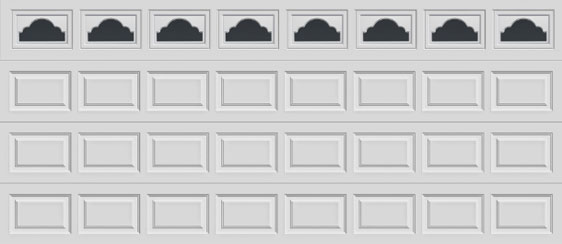 16 short panel clopay premium series garage door cathedral 507 windows