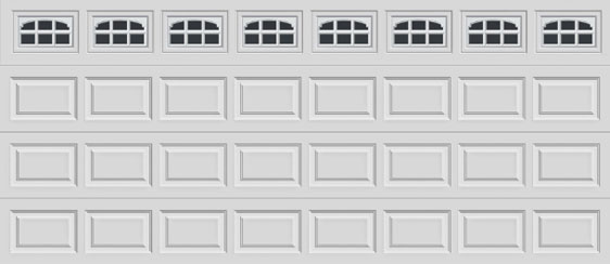 16 short panel clopay premium series garage door charleston 508 windows