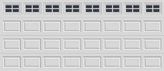 16 short panel clopay premium series garage door colonial 509 windows