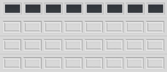 16 short panel clopay premium series garage door plain short windows