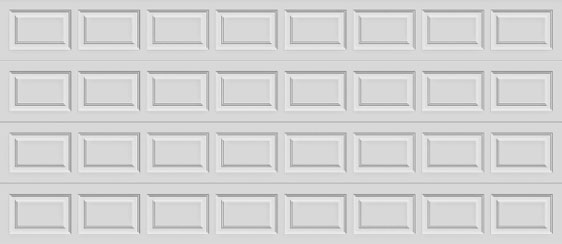 16 short panel clopay premium series garage door solid top section