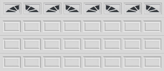 16 short panel clopay premium series garage door sunset 501 windows