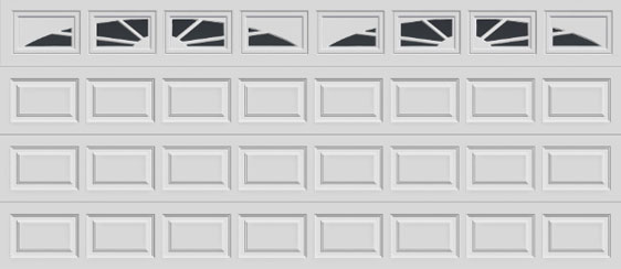 16 short panel clopay premium series garage door sunset 503 windows