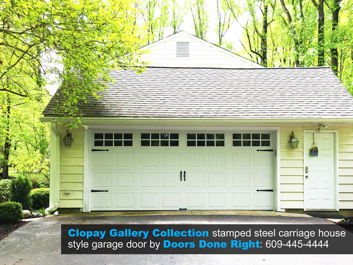 clopay gallery collection 2 car garage door in princeton nj