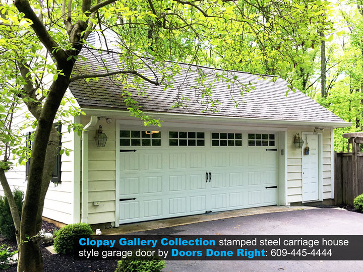 clopay gallery collection carriage house garage door in princeton nj 08540