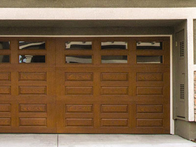9800 Fiberglass Garage Door 7ft HRP Cherry Windows