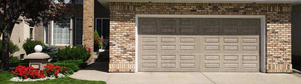 9800 Fiberglass Garage Door Horiz Raised Panel Clay