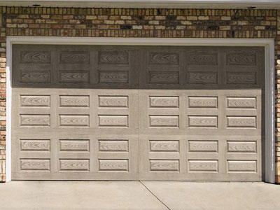 9800 Fiberglass Garage Door Horiz Raised Panel Clay