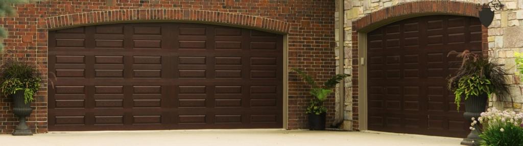9800 Fiberglass Garage Door Horiz Raised Panel Mahogany