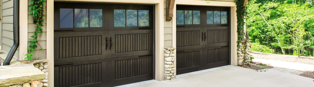 9800 Fiberglass Garage Door Sonoma Walnut 6LiteSquare