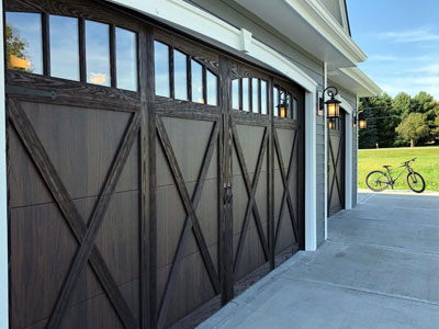 chi shoreline garage door with walnut accents design 34