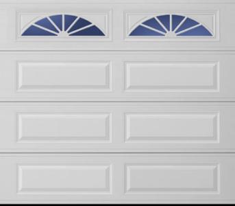 Amarr Long Panel with Long Wagon Wheel Windows