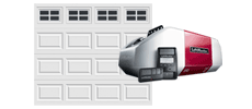 single-wide door with liftmaster model 8550w opener