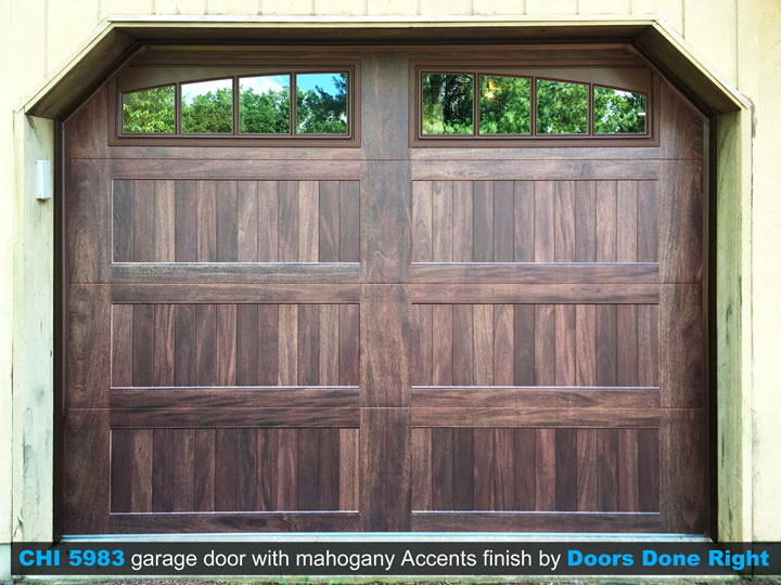 Chi Model 5983 Garage Door With Mahogany Accents Finish In Princeton Nj 08540