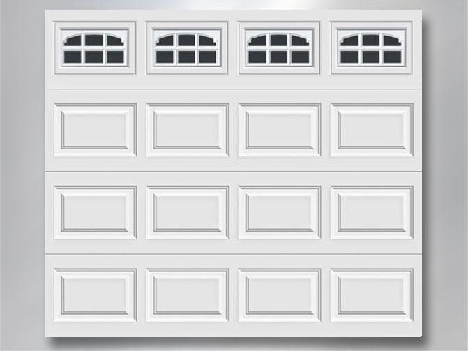clopay door with charleston 509 windows